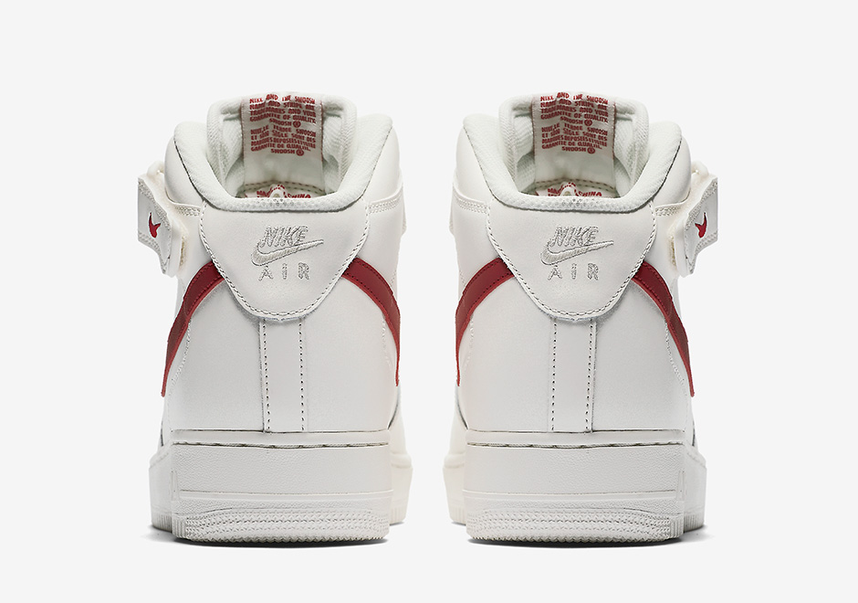 purchase cheap b6018 0c3c9 Nike Air Force 1 Mid Sail University Red 315123-126   SneakerNews.com