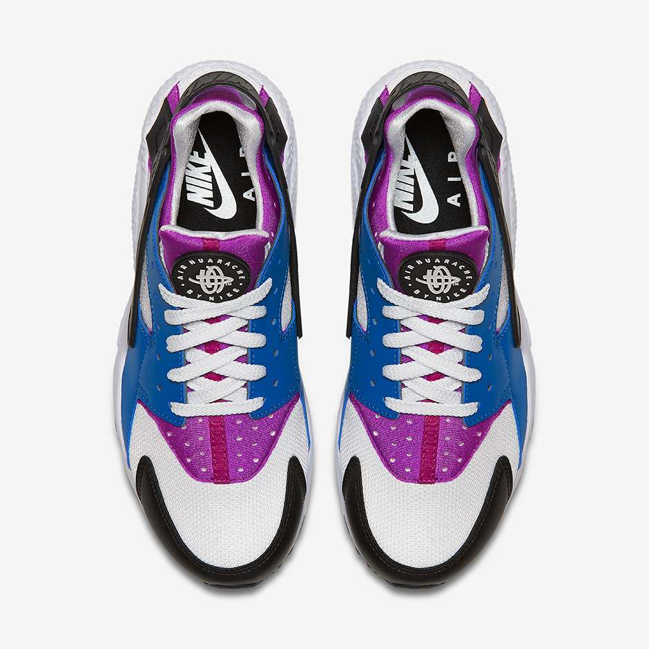Nike Air Huarache AVAILABLE ON Nike.com  110. Color  Blue Jay Hyper Violet  Black White 8d622c1172d2