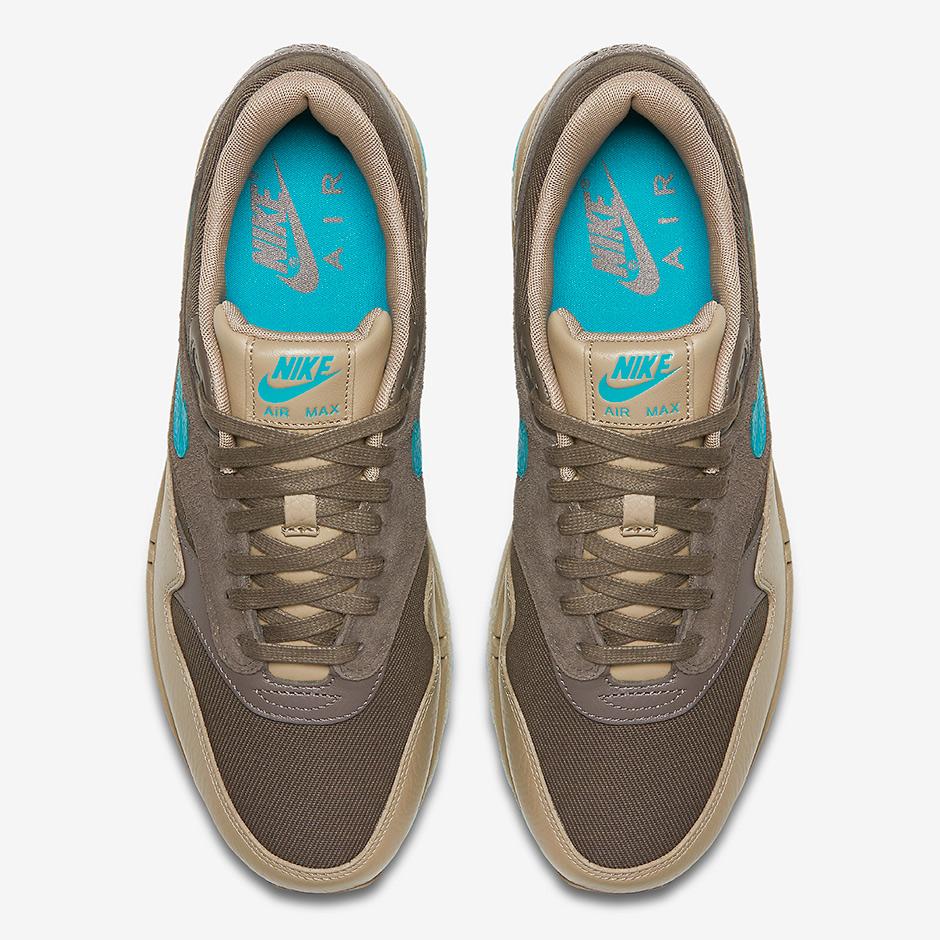 Authentic Nike Air Max 1 Premium Ridgerock Turbo Green Khaki