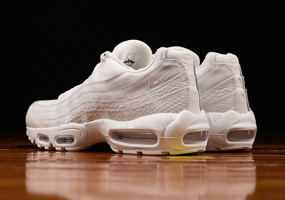 timeless design e5f30 8843a Nike Air Max 95 White Snakeskin 538416-100   SneakerNews.com