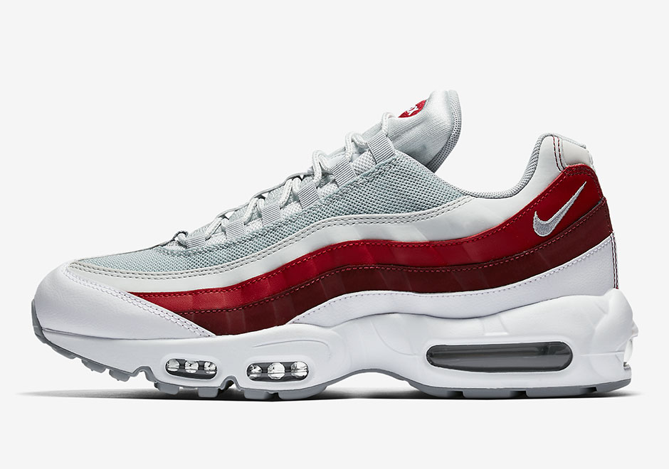 nike air max 95 grey and red