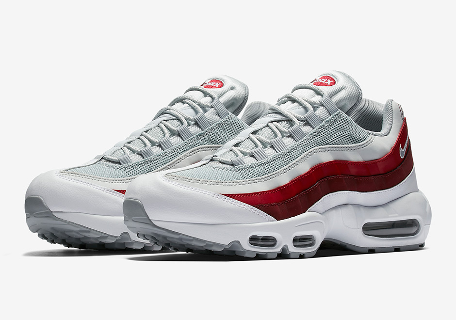 newest collection 18778 079f3 Nike Air Max 95. Color  White Wolf Grey-Pure Platinum-Team Red