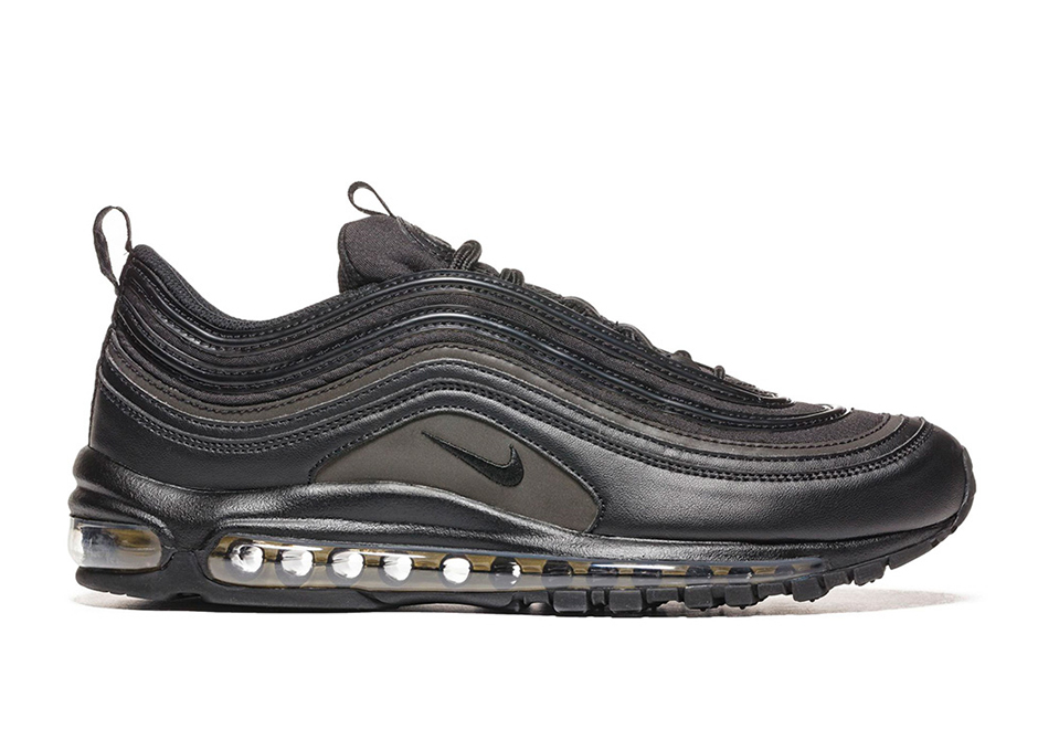 More Nike Air Max 97 colorways are coming later this year. Today we get a  look at a near Nike Air Max 97 Triple Black option featuring touches of  Metallic ...