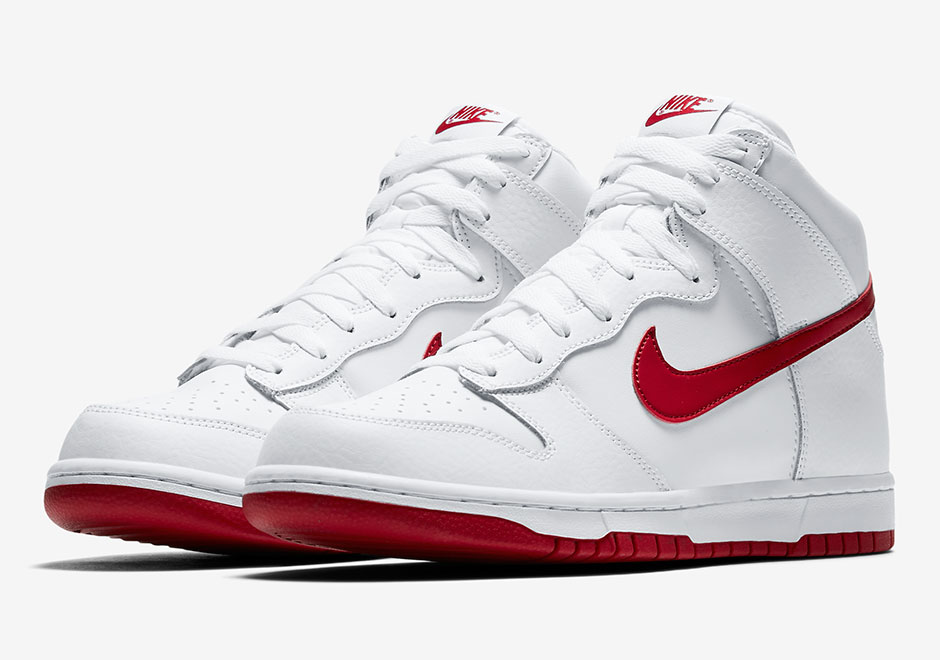 separation shoes 8d163 a92a2 The Nike Dunk High Is Back In Old School Two-Tone Colorways