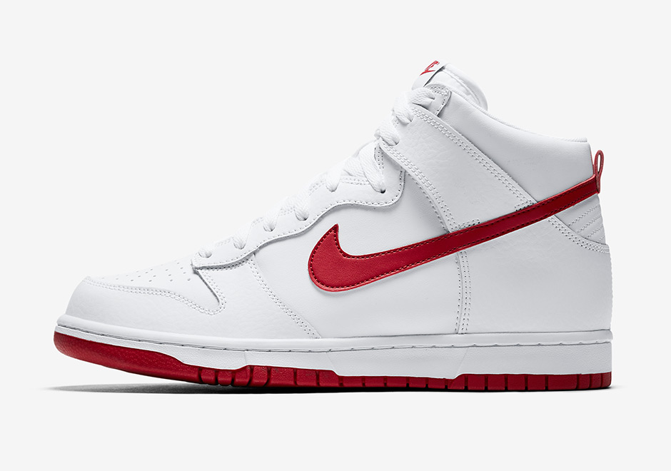 online store 95253 ca0c3 Nike Dunk High Color  White Gym Red