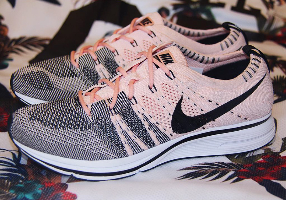 nike flyknit trainer sunset tint detailed photos ah8396. Black Bedroom Furniture Sets. Home Design Ideas