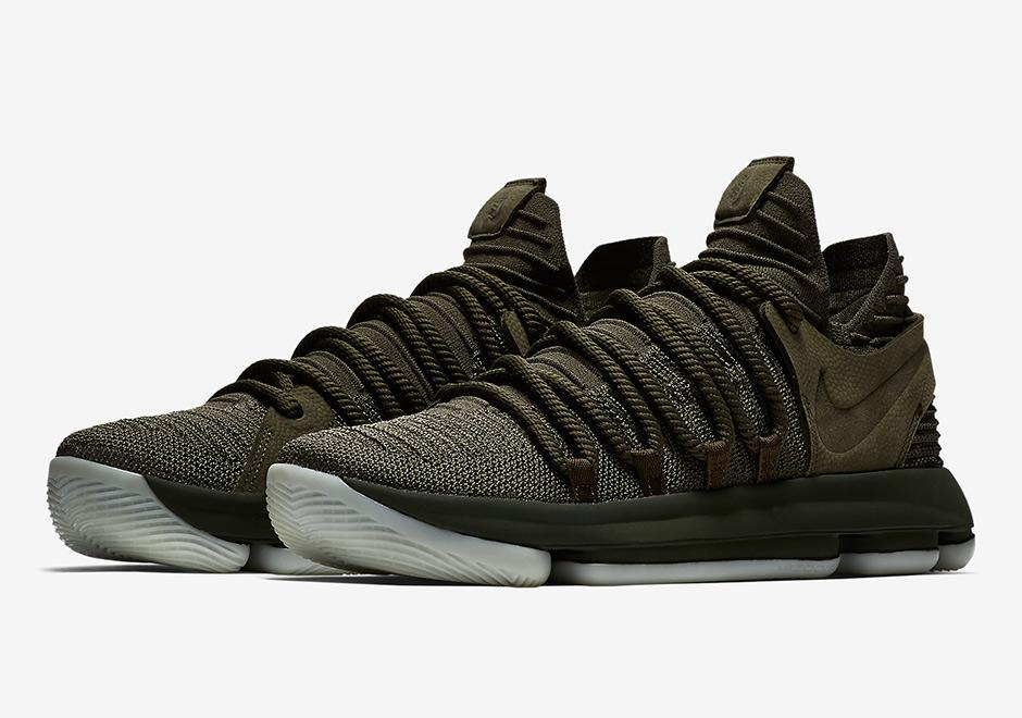 ef0f6a11c7a8 Nike KD 10 NL EP Olive Green 943298-900