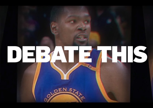 """Nike Celebrates Kevin Durant's First NBA Championship With """"Debate This"""""""