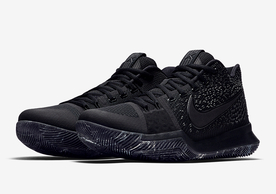 new concept 15c16 2c52f Nike Kyrie 3 Triple Black Marble Soles Release Date 852396 ...
