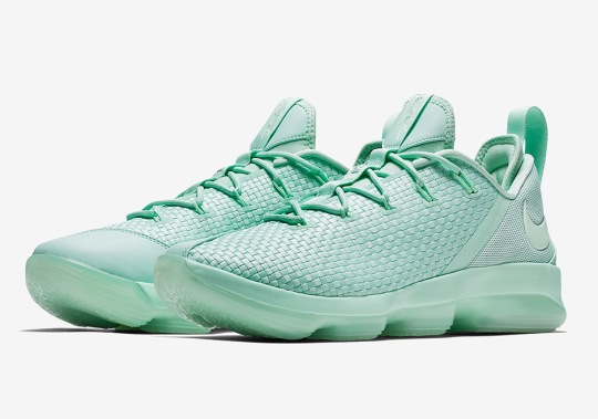 The Nike LeBron 14 Low in Mint Green Arrives This Summer