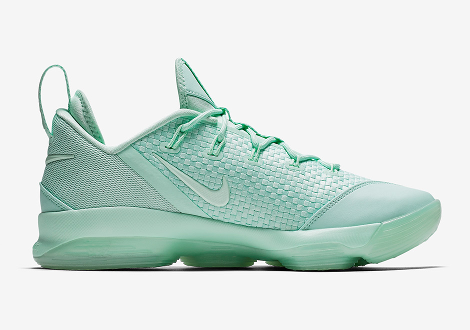 "Nike LeBron 14 Low ""Mint Foam"" Release Date July 7th, 2017"