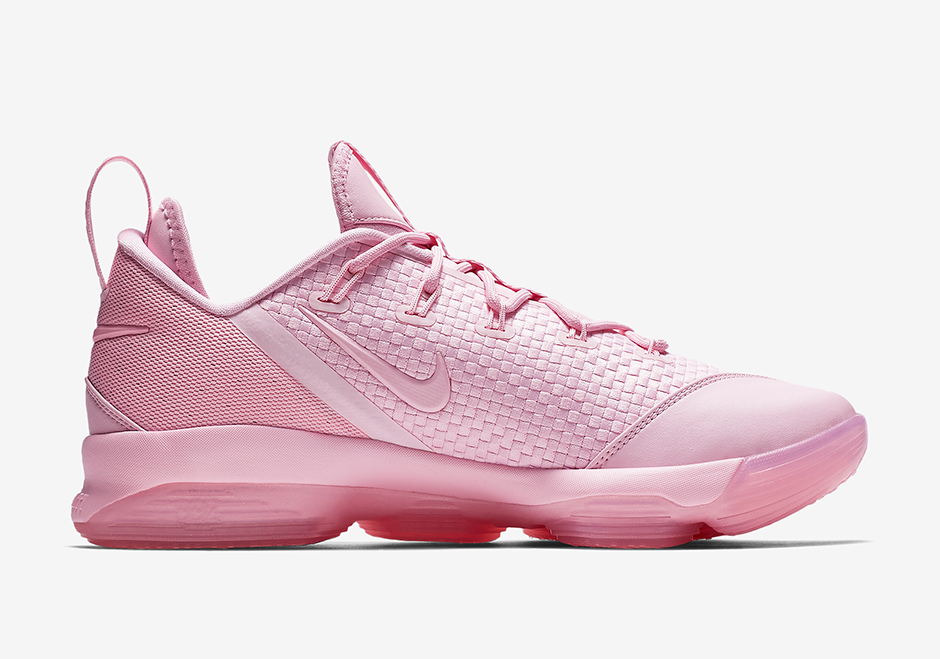 """Nike LeBron 14 Low """"Pastel Pink"""" Release Date: July 7th, 2017"""