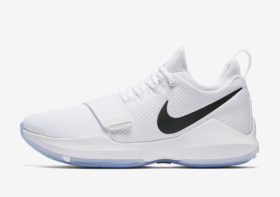 sports shoes 3b648 bef80 Nike PG 1 White Black Ice Blue 878627-100 | SneakerNews.com