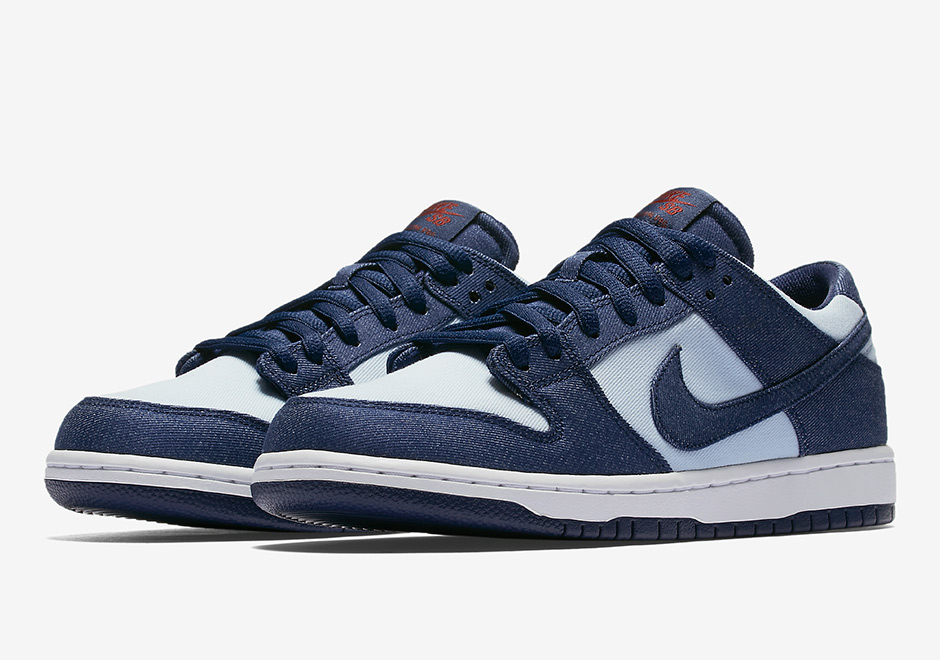 sports shoes f4ce3 3b751 Nike SB Dunk Low Denim Binary Blue 854866-444 | SneakerNews.com