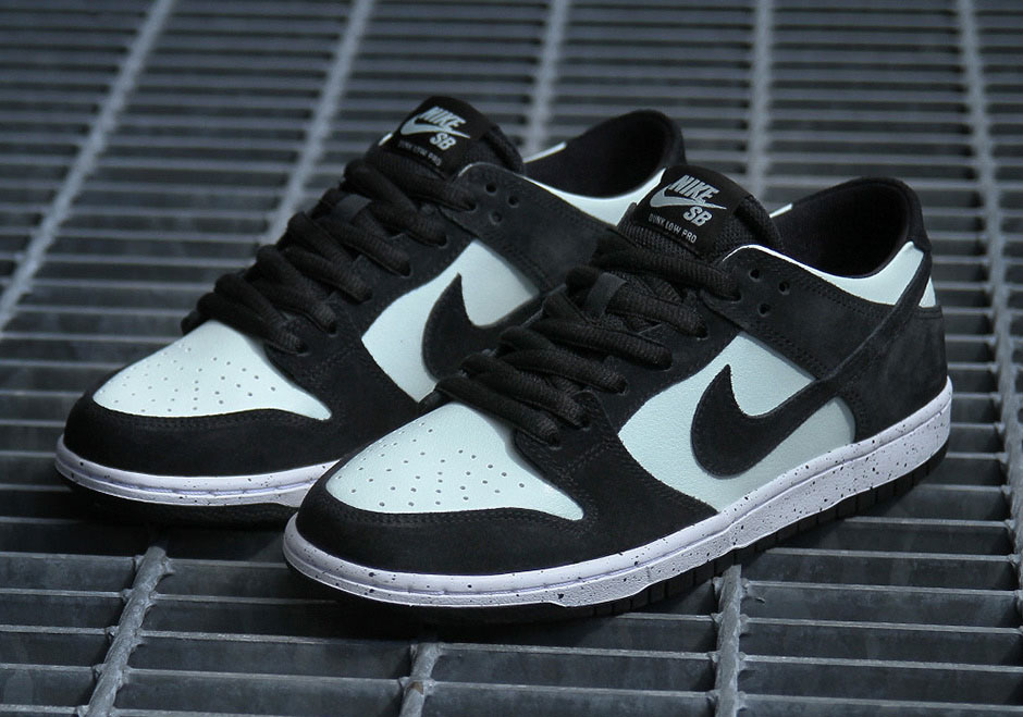"4383d791ede You hear mint green on a Nike SB Dunk and you immediately think of Diamond  Supply s iconic Tiffany Dunk. This Nike SB Dunk Low Pro ""Barely Green""  might be a ..."