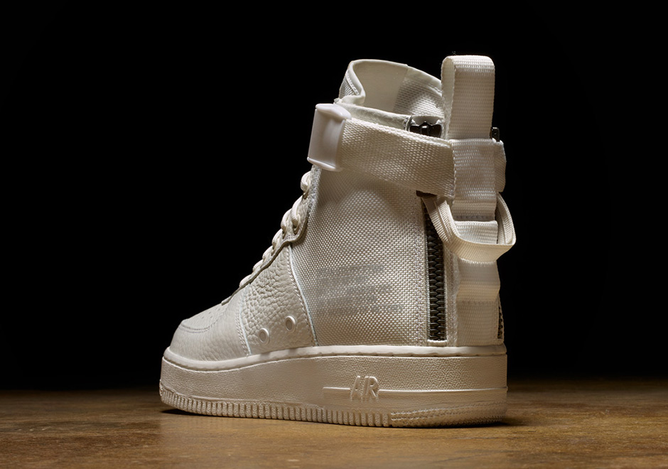 wholesale dealer 6f509 ff605 Nike SF AF1 Mid Triple Ivory Release Date AA6655-100   SneakerNews.com