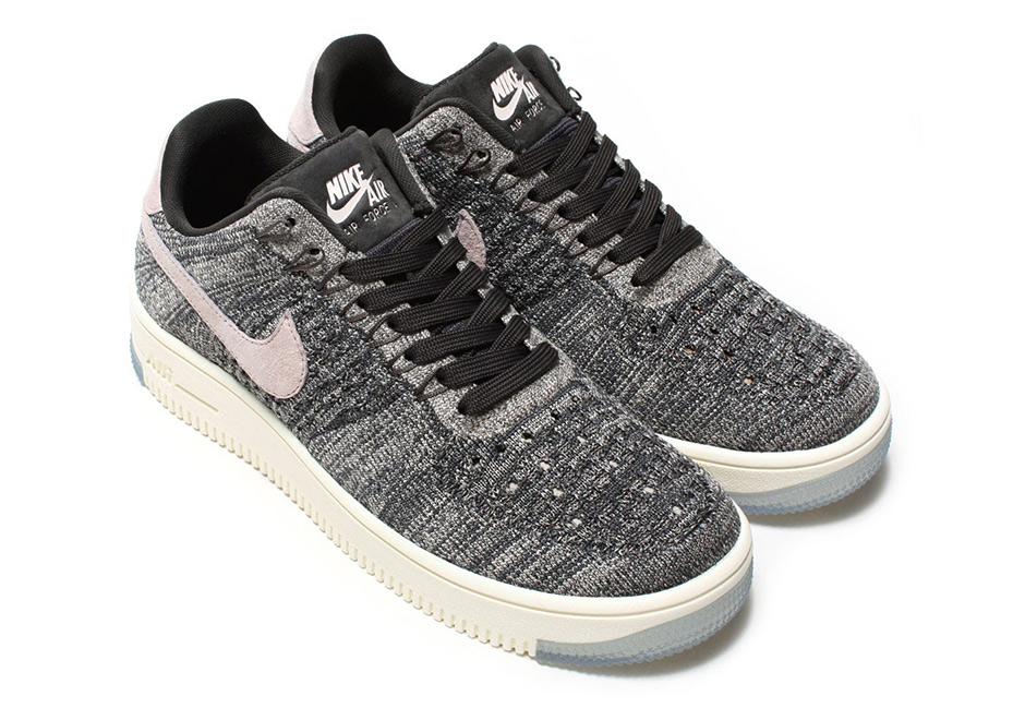 "0dd5a6cb933 Nike Air Force 1 Low Pairs ""Oreo"" Flyknit With Silt Red"
