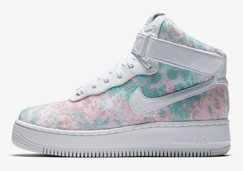 Updated on June 27th, 2017: The Nike WMNS Air Force 1 Hi Upstep releases on  July 1st, 2017 for $200.