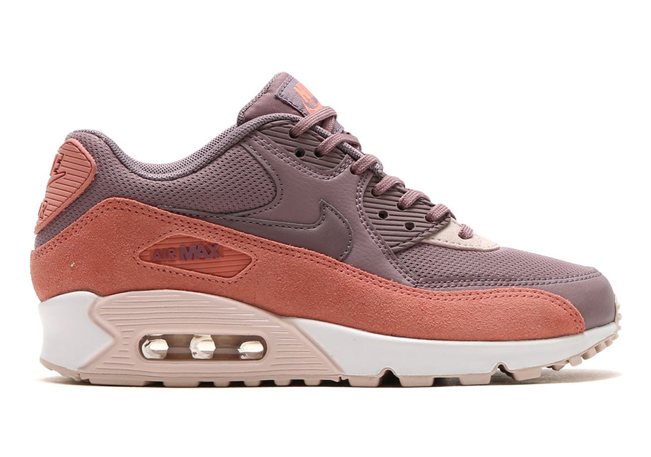 promo code 41185 e4832 Nike WMNS Air Max 90. Color  RED STARDUST TAUPE GREY-SILT RED-WHITE
