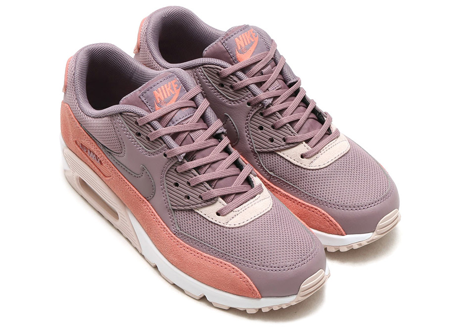 on sale f0c9c 28b98 Nike WMNS Air Max 90. Color  RED STARDUST TAUPE GREY-SILT RED-WHITE Style  Code  325213-611. Advertisement