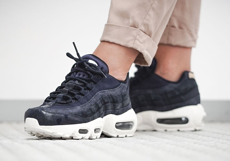 The Nike Air Max 95 receives yet another unique new and premium  construction with these new editions arriving for women this summer. d26d252a1