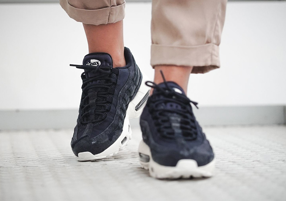 ac0f7f30d059 Nike WMNS Air Max 95 Premium  160. Color  Dark Obsidian Midnight Navy-Sail
