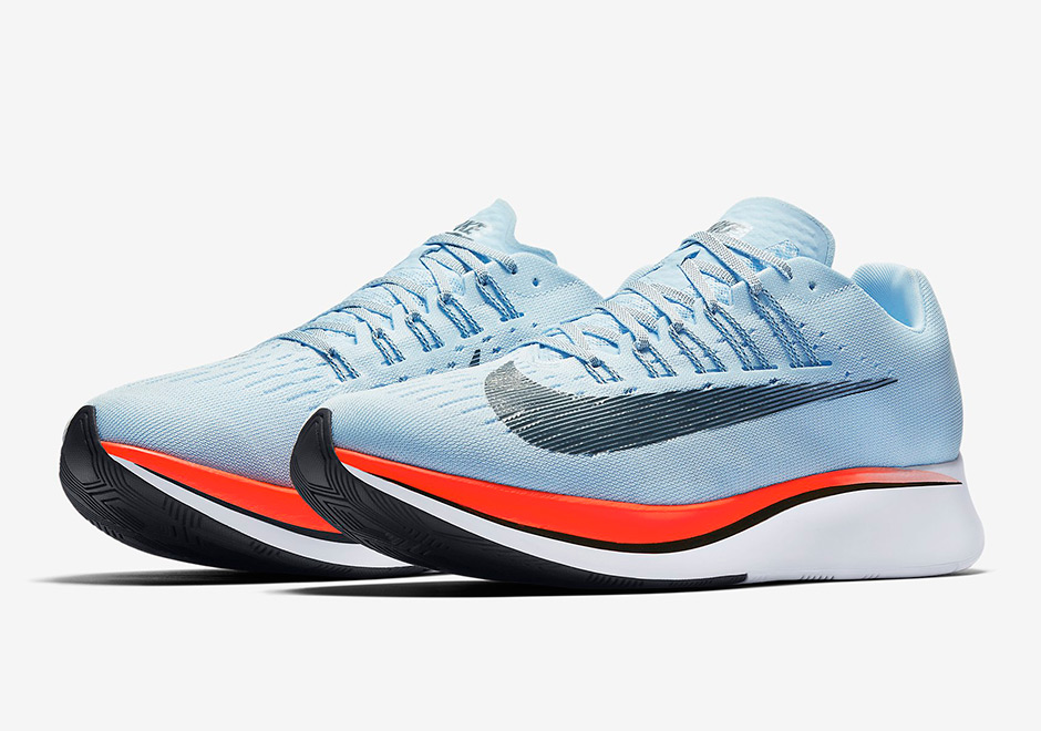 finest selection 45a1a 98c56 Nike Zoom Fly Release Date  June 8th, 2017. AVAILABLE ON Nike.com  150.  Color  Ice Blue Bright Crimson University Red Blue Fox