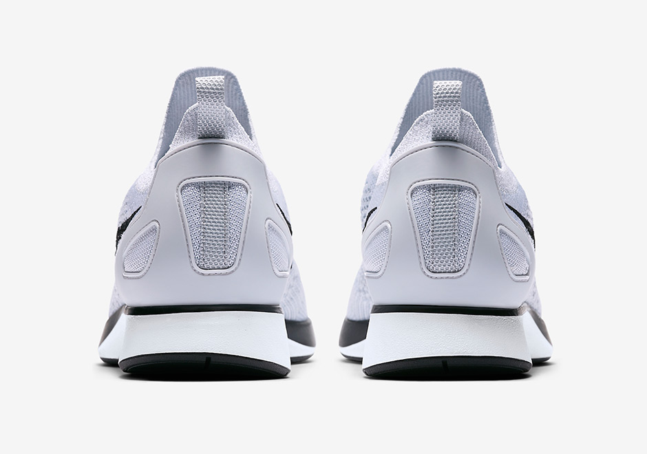 huge discount 9b371 34dc8 Nike Air Zoom Mariah Flyknit Racer Release Date  July 6th, 2017  150.  Color  Pure Platinum White-Black Style Code  918264-002. Advertisement
