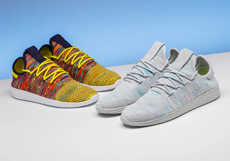Updated on July 18th, 2017: The Pharrell x adidas Tennis Hu Collection  releases in the US on July 28th, 2017 for $130.
