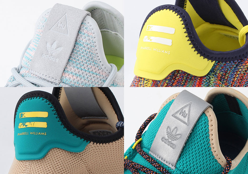 642e4fbe90db6 Detailed Preview Of Four Upcoming Pharrell x adidas Tennis Hu Colorways
