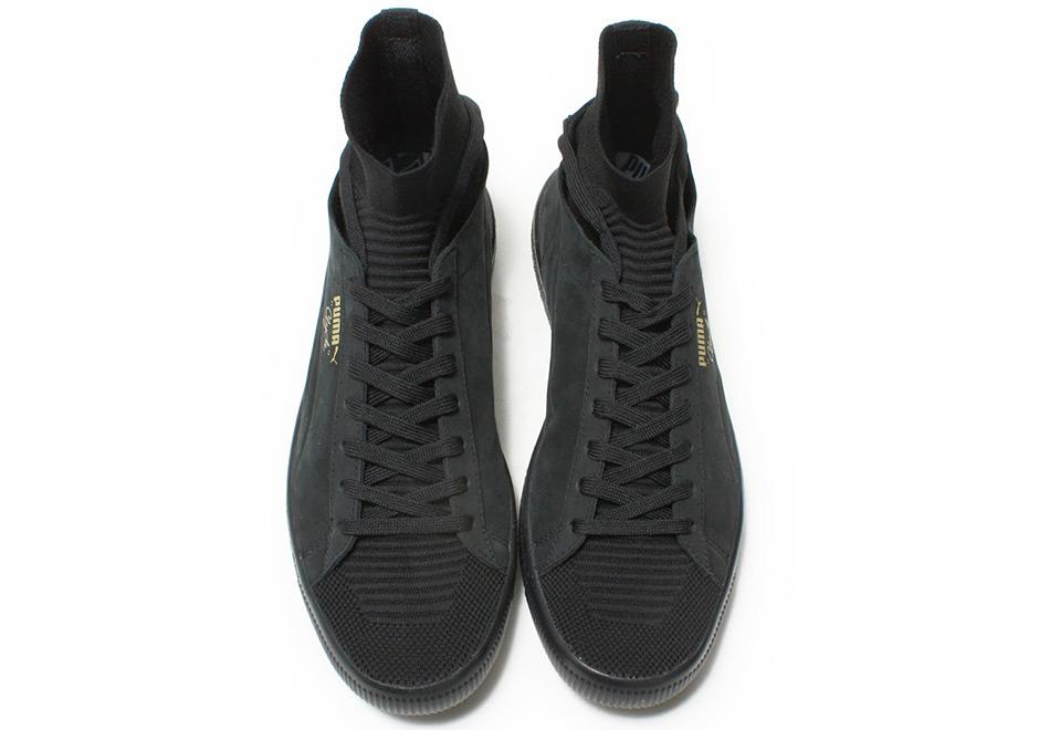 quality design a72e7 866b5 Puma Clyde Sock Select Grey Black Navy   SneakerNews.com
