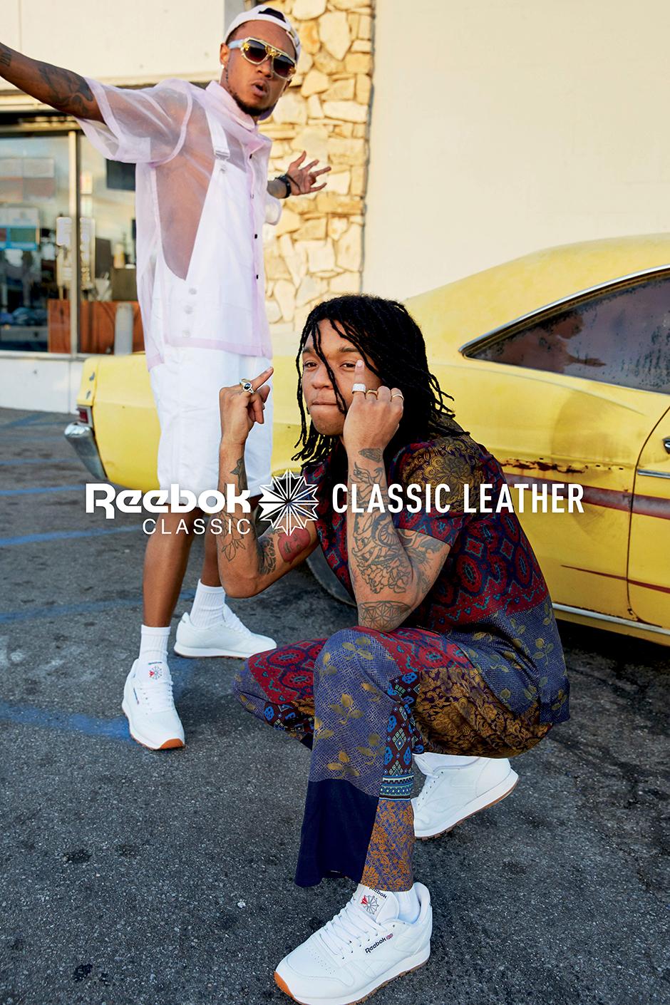 d5b42961203 Rae Sremmurd Reebok Classic Leather Campaign