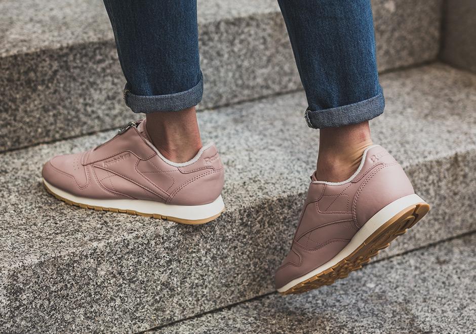 Despertar comprador Mucho bien bueno  Reebok Classic Leather Zip Shell Pink | SneakerNews.com