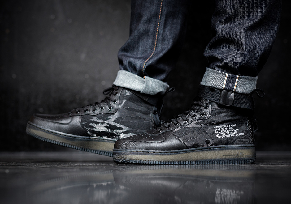 sale retailer 14069 da914 Nike SF-AF1 Mid Release Date  June 8th, 2017  170. Color  Black Black-Cargo  Khaki Style Code  AA7345-001. Advertisement