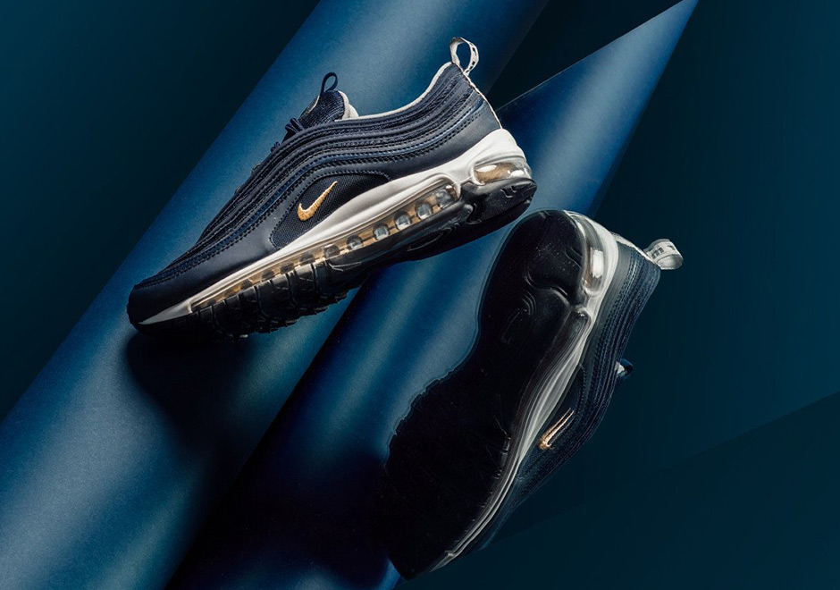 air max 97 blue gold