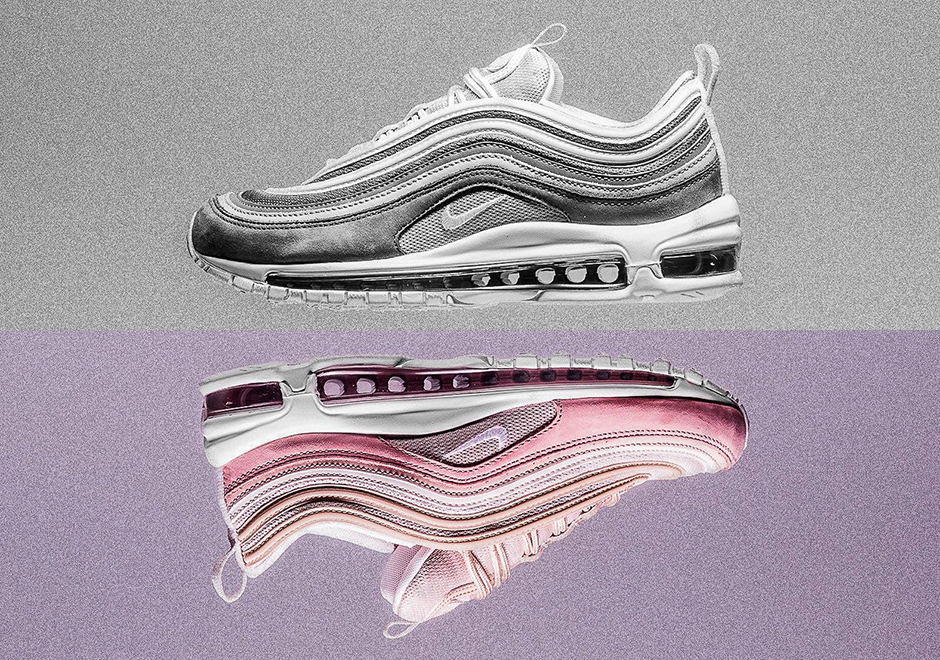 f0cb54b5 Nike Air Max 97 Premium Pink and Grey Suede 312834-200 | SneakerNews.com