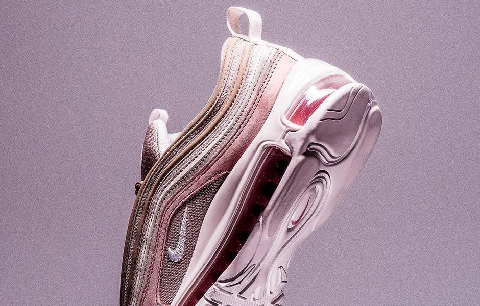 Nike Air Max 97 Premium Pink and Grey Suede 312834-200  ae8d02516