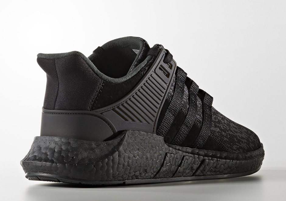 purchase cheap new lifestyle dirt cheap adidas EQT 93/17 Boost Triple Black Release Date BY9512 ...