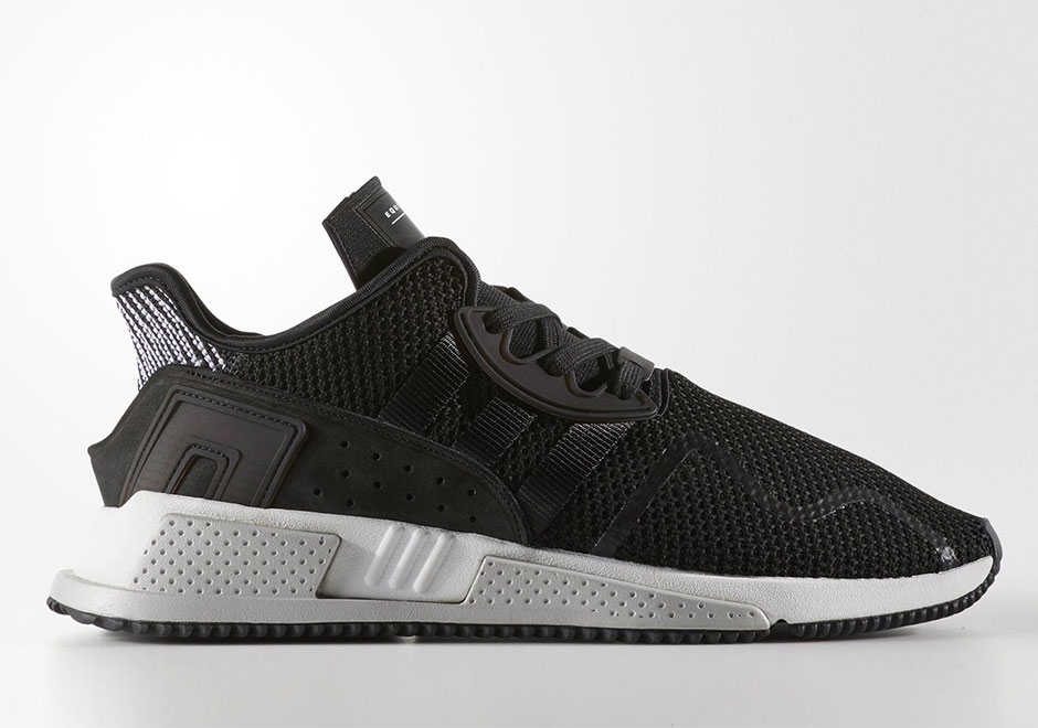 adidas originals eqt cushion adv trainers in black by 9506