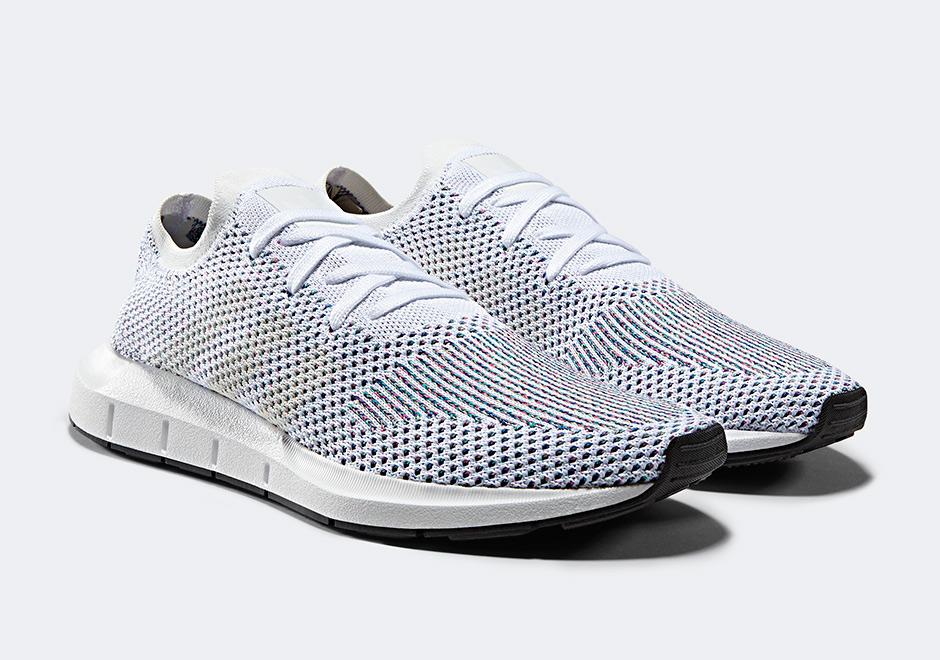 adidas originals swift run primeknit trainers in white