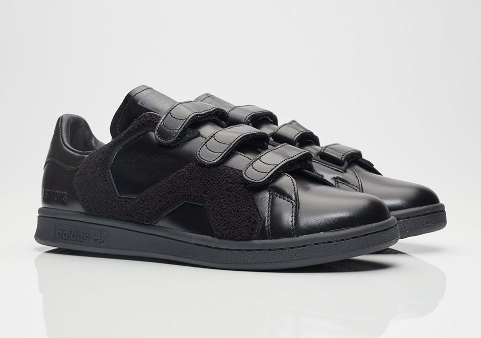 Adidas Par Raf Simons Chaussures De Sport Stan Smith - Noir QyO0EG