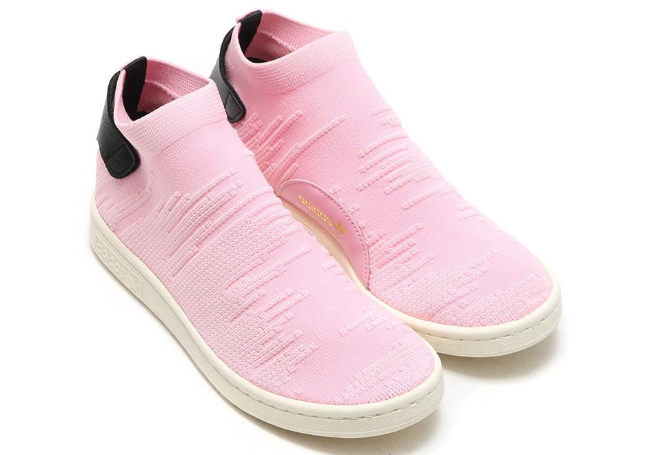 Adidas Stan Smith Sock Wonder Rosa By9250