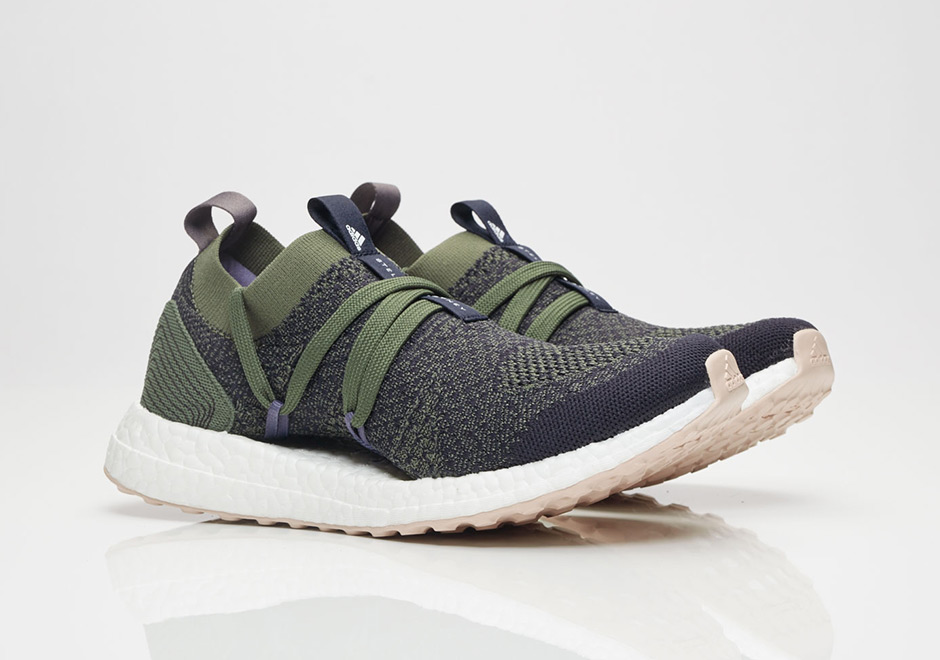 300b5081e39 Stella McCartney x adidas Ultra Boost X AVAILABLE AT Sneakersnstuff 210.  Color Legend BlueBase GreenPeach