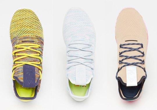 Pharrell's adidas Tennis Hu In Three Colorful Versions Release Next Week