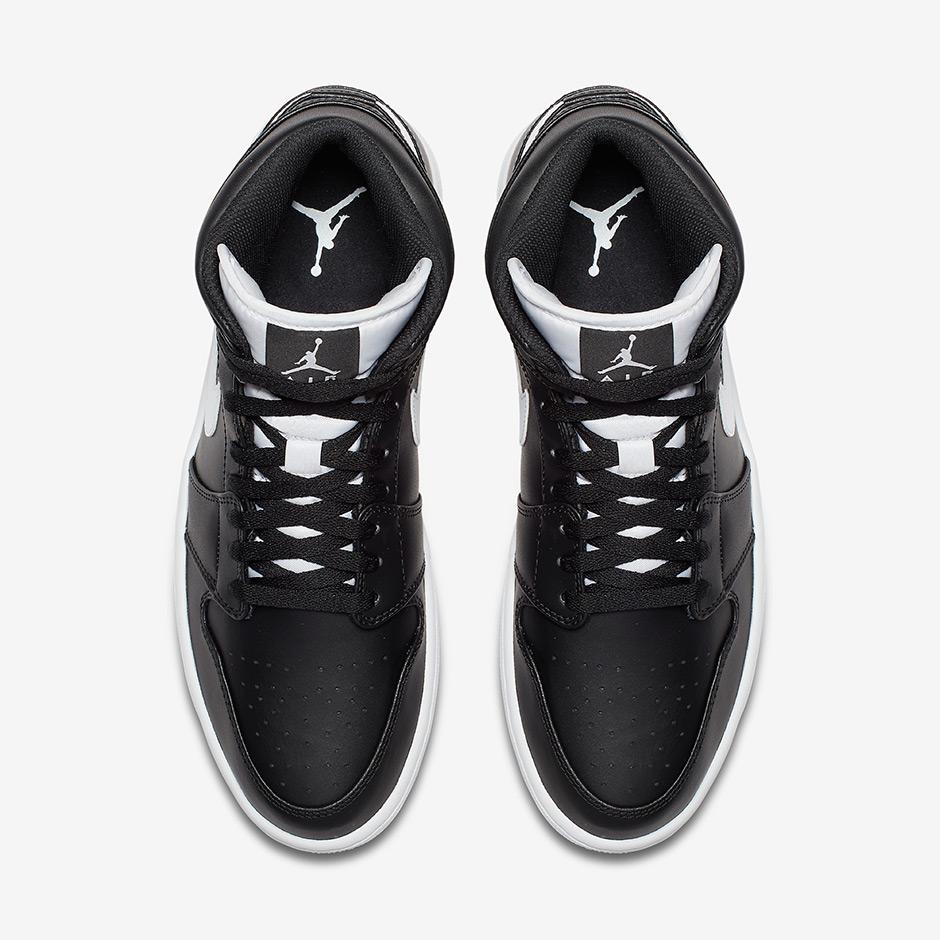 Air Jordan 1 Mediados Negro Blanco y5U3ZZ8F