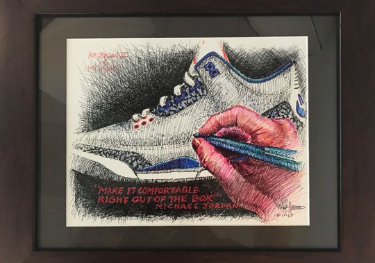 Sketch Of The Air Jordan 3 By Tinker Hatfield Is Being Auctioned Off For Make-A-Wish Foundation