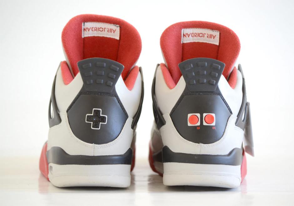 Super Mario Bros Air Jordan 4 Customs