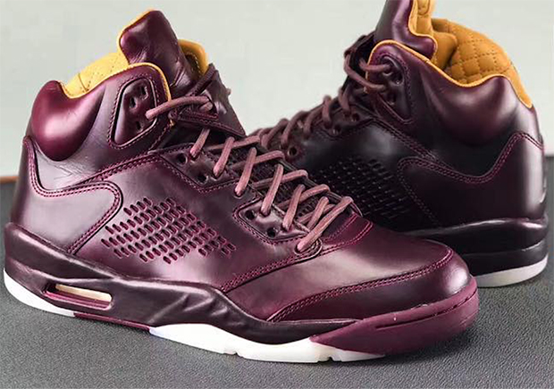 "Update: The Air Jordan 5 PRM ""Wine"" releases on December 14th, 2017 for  $400."