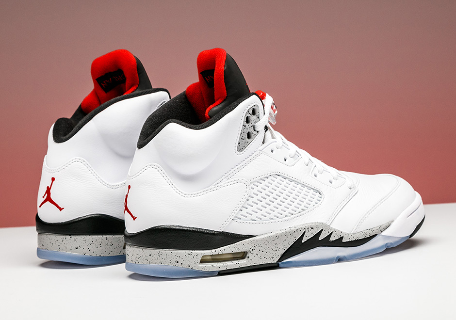 online store 95ad7 c9372 Air Jordan 5 White Cement Available Early at Stadium Goods ...