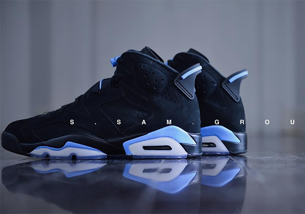 d4a01fc851df1e ... sale air jordan 6 unc release date december 23rd 2017 190. color black  university blue